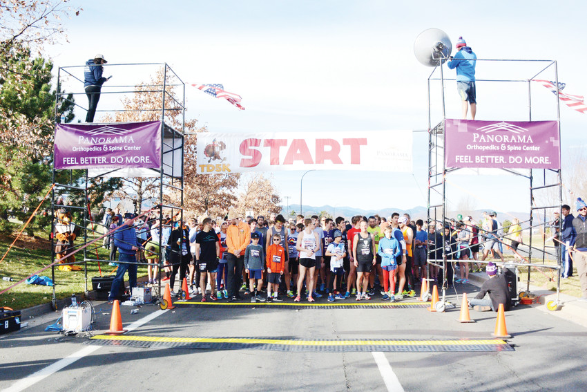 Thousands of residents from south metro Denver line up for the annual Turkey Day 5K hosted by the Highlands Ranch Chamber of Commerce. The 3.1-mile route starts and begins at Shea Stadium, 3270 Redstone Park Cir., in Highlands Ranch.