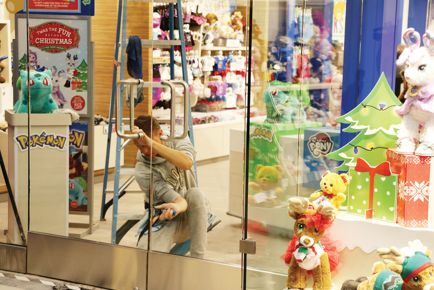 Build-A-Bear's Colorado Mills location prepares for the reopening of the mall on Nov. 20. The mall reopened Nov. 21, in time for the holiday shopping season.