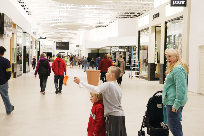 Children and families on Thanksgiving break explore the newly opened Colorado Mills Mall on Nov. 21.