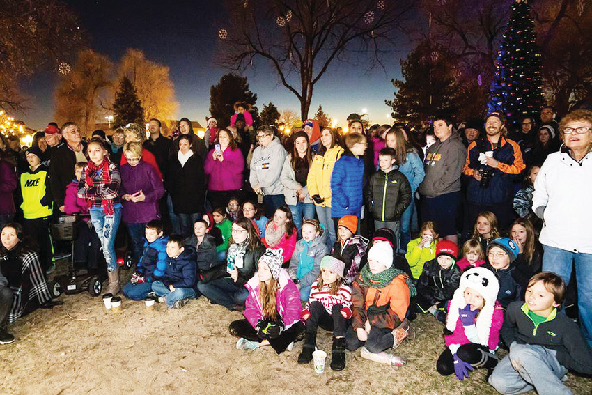 Nearly 4,000 residents of all ages showed up at O'Brien Park to watch the annual Mayor's Lighting of the Christmas Tree.