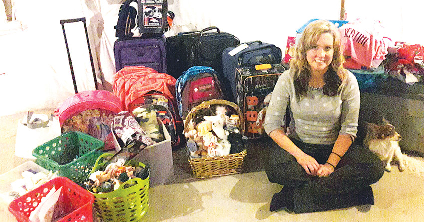 Through Comfort Cases, Ashleigh Letofsky started collecting donations for local foster care children. Halfway through, she had to start storing the items in her parents' basement as her apartment became too full.