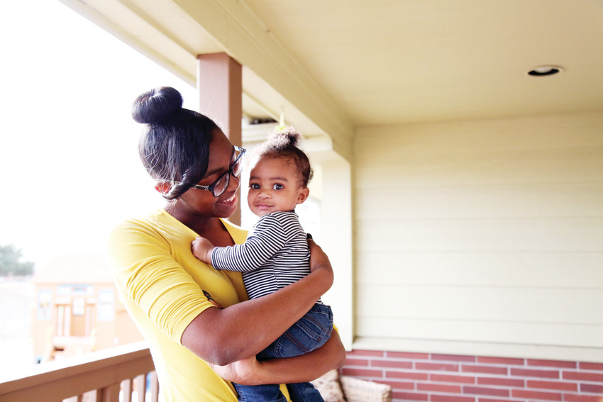 Trinity Williams, 18, is in the Hope House residential program with her eight-month old son, Anthony. She hopes that through the program's Santa Shop she will be able to provide gifts for his first Christmas.
