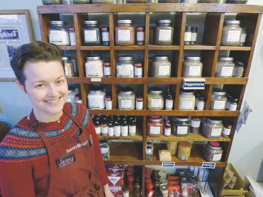 Jenny Goetz helps spice up Downtown Littleton as the manager of Savory Spice Shop.