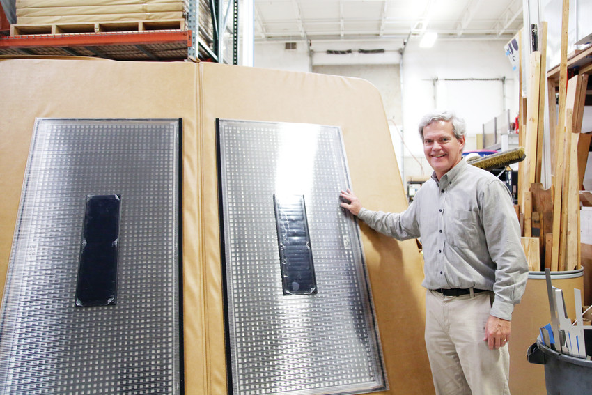 John Tandler is the president of Aztec Energy and the inventor of a solar thermal hot tub cover.