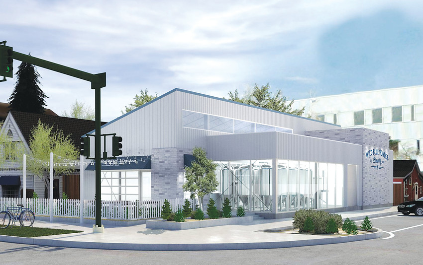 The Wild Blue Yonder Brewery hopes to begin construction in January. Here, an artist's rendering shows what it is planned to look like.