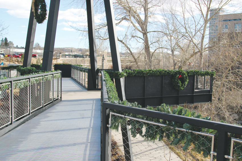 Visitors can overlook the new Festival Park from walkways elevated above the gulch and trail system.