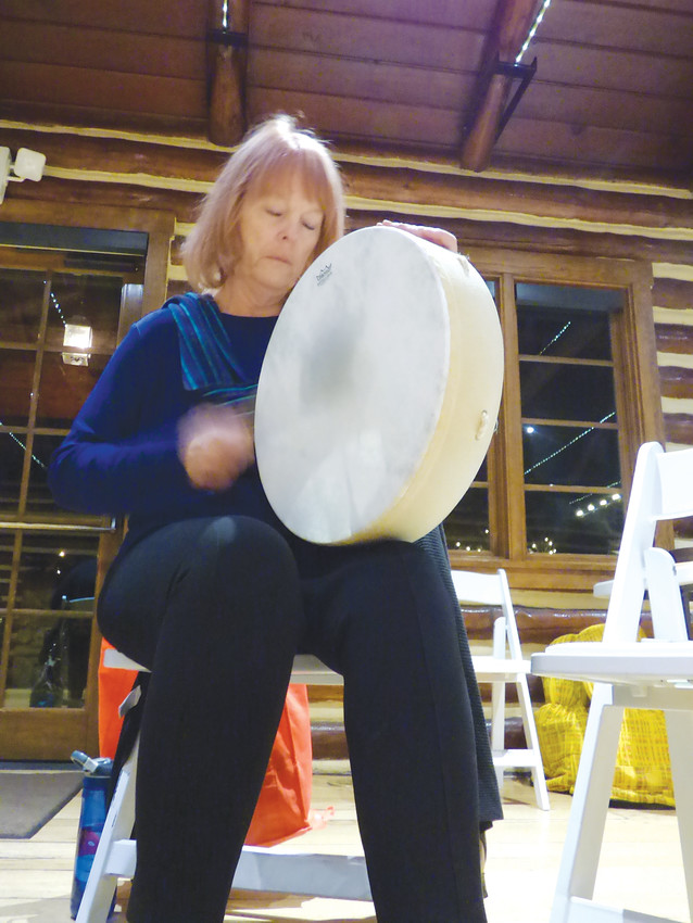 Lyn Bach called the drum circle a place of healing.