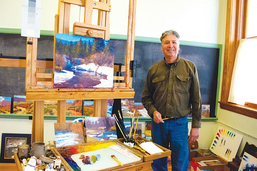 Parker artist Lorenzo Chavez in his studio. He will teach landscape painting at PACE, and at the Art Students League of Denver.