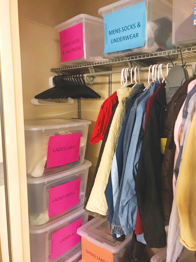 "Staff at St. Anthony Hospital spent six months collecting and organizing donated clothing for ""Anthony's Closet,"" which is available to patients who need clothing either because the clothes they were wearing were too damaged, or because they are homeless and don't have any spare clothes."