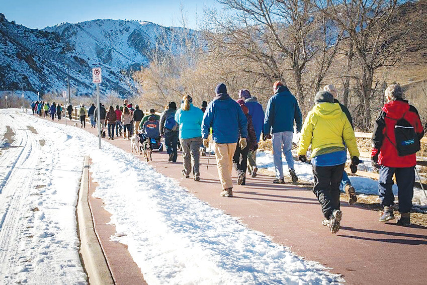 People love to walk in Golden. Each year, the Ring in the New Year Ramble attracts about 75-80 people from all over the metro area. Organizers expect this year's crowd to be about the same.