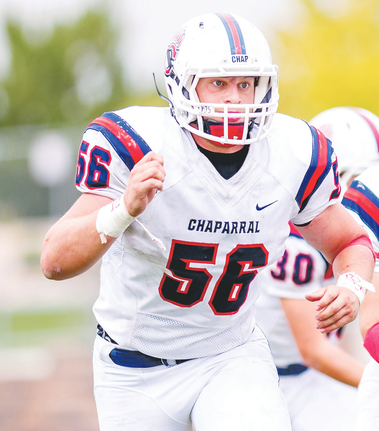 Chaparral linebacker Jacob Stanton registered 19 tackles for losses in 2017.