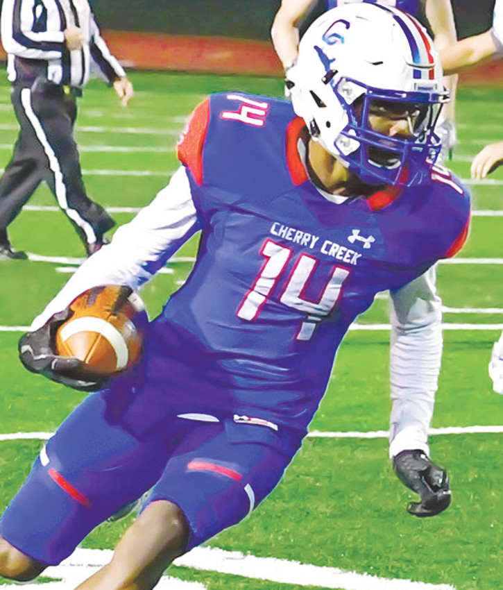 Cherry Creek's Dimitri Stanley, a versatile wide receiver, scored 20 touchdowns in 2017.