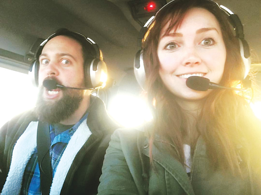 Scott Frank, 27, and Sarah Denton, 25, of Broomfield are pilots pursuing a career with the major airlines. Despite the high expenses and time it takes to pursue their careers, both have known they wanted to fly professionally since they were children.