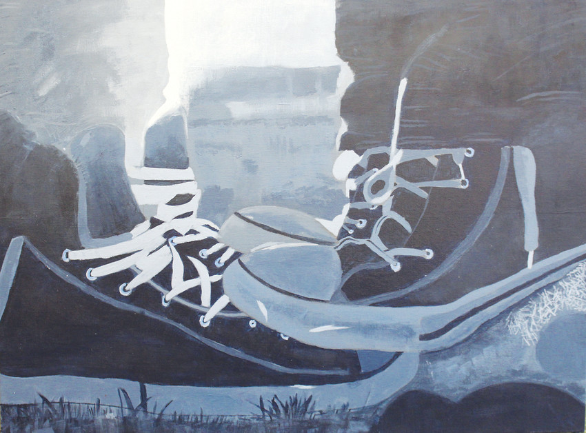This painting on canvas on board by Kacee McMaster, ninth grade, Heritage High School, will be included in the Littleton Public Schools Art Exhibition from Jan. 17-Feb. 6 at Arapahoe Community College.