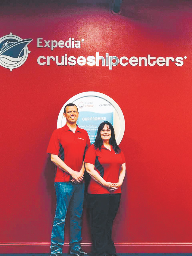 Brenda Skogen, with her husband, Eric, is opening an Expedia CruiseShipCenters travel agency in Castle Rock.