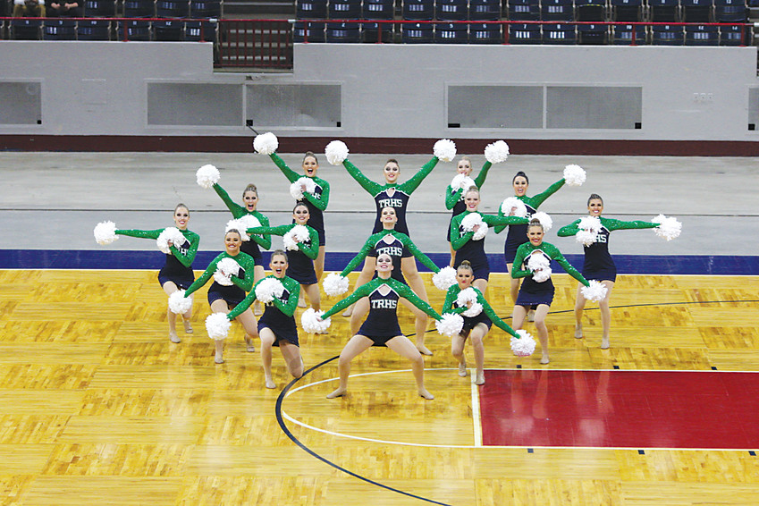 The ThunderRidge poms team competes at the State Spirit Championships, which were held Dec. 8-9 at the Denver Coliseum. ThunderRidge claimed the Class 5A crown.