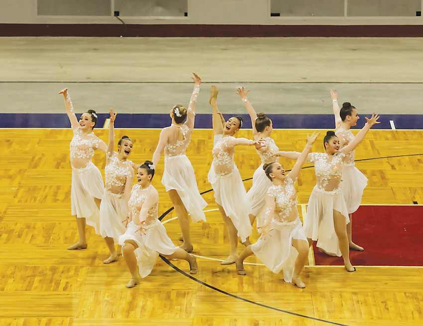 The Ponderosa jazz team performs during the finals of the State Spirit Championships, which were held Dec. 8-9 at the Denver Coliseum. The Mustangs won their fourth consecutive jazz title and 11th overall state spirit championship, which ties Ponderosa for the most state titles.