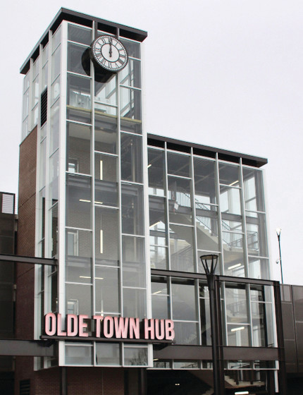 The Olde Town Transit Hub is now open to the public with 600 parking spaces, though testing continues on the G Line, which has yet to open.