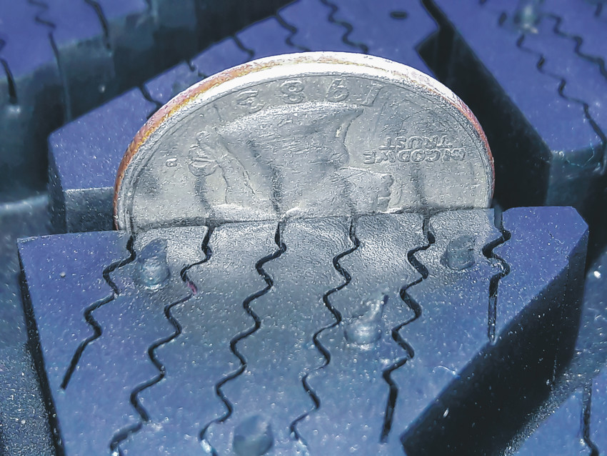 AAA Colorado suggest drivers use coin, with the head upside own, to test the  tread depth on their car's tires. If the head on the coin is hidden, the tread is fine and the tires should be safe for most winter road conditons.