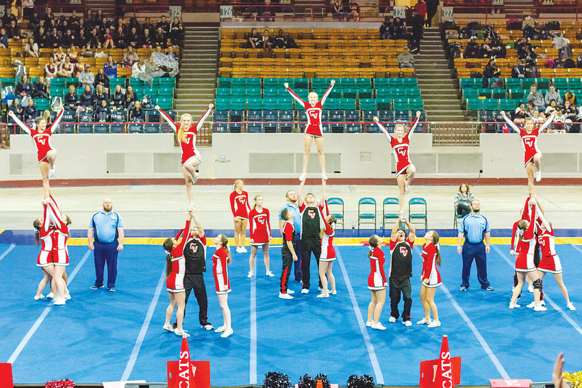 Castle View High School's varsity coed cheer team will compete at nationals in February.