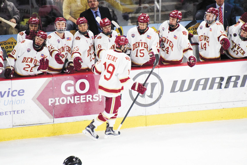 Troy Terry, a former Rock Canyon High School student and a junior at the University of Denver, has been named to the U.S. Olympic men's hockey team. He will compete at the winter Olympic games in Pyeongchang, South Korea starting Feb. 14.