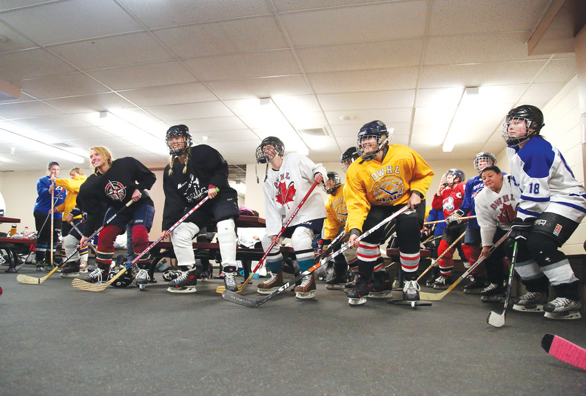 Twenty women from the Denver metro area came out to try their hand at hockey.