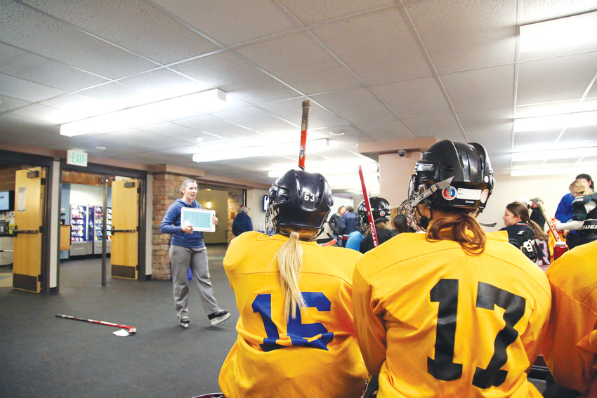 The clinic gave women who have never played the sport the opportunity to suit up and get on the ice free of charge.