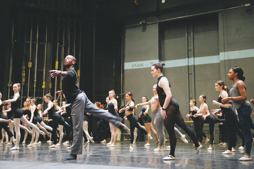 James Boyd instructs the advanced ballet class at the Manhattan Dance Project master class workshop Saturday, Jan. 6.