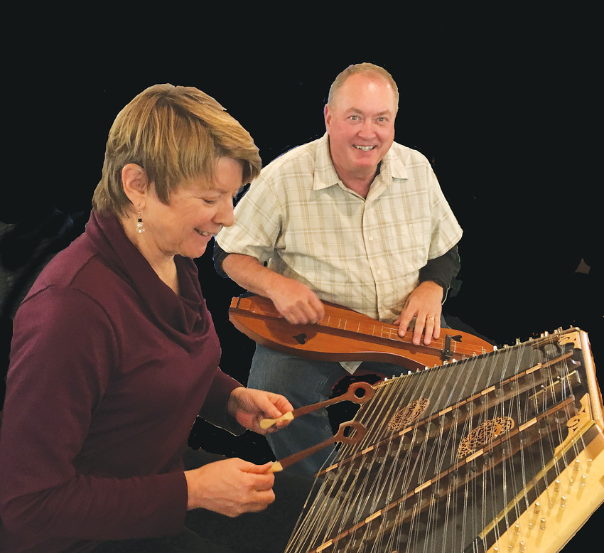Linda Colville plays the hammered dulcimer and Bob Elieson performs on the mountain dulcimer. Both types will be played and taught at the Colorado Dulcimer Festival on Feb. 2 and 3 at St. James Presbyterian Church in Littleton.