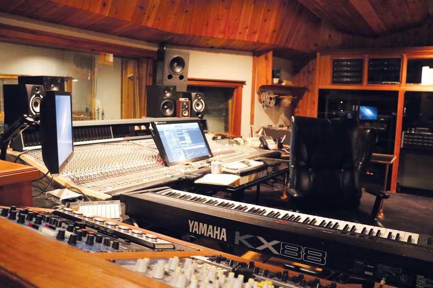 The control room for one of the studios at Rocky Mountain Recorders in Denver. Professionals at the studio can assist with everything from mixing and mastering and deciding between digital and analog recording.