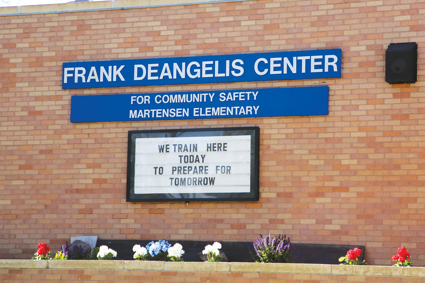 The training center, which is open to all law enforcement agencies and school districts, was dedicated to and named after former Columbine High School principal Frank DeAngelis.