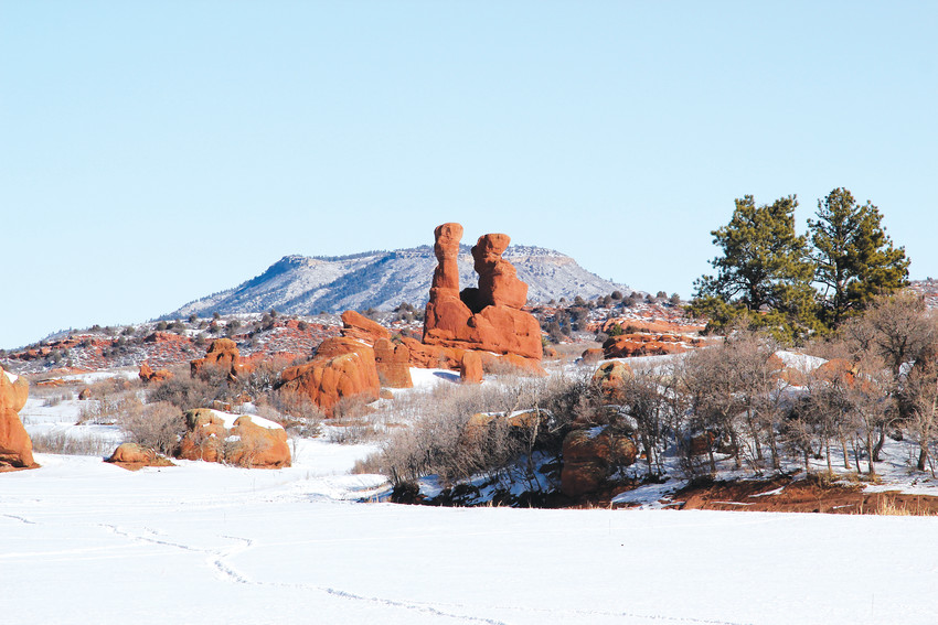 Sandstone Ranch features unique red rock formations similar to those at Garden of the Gods in Colorado Springs.
