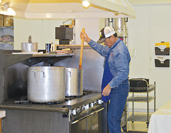 Golden Lion George Arrambide stirs chili at the Golden Lions Club's annual chili supper and bake sale on Feb. 18, 2017, at the Masonic Lodge in Golden. The chili is free, but all donations and proceeds from other sales benefit the Golden Lions Club.