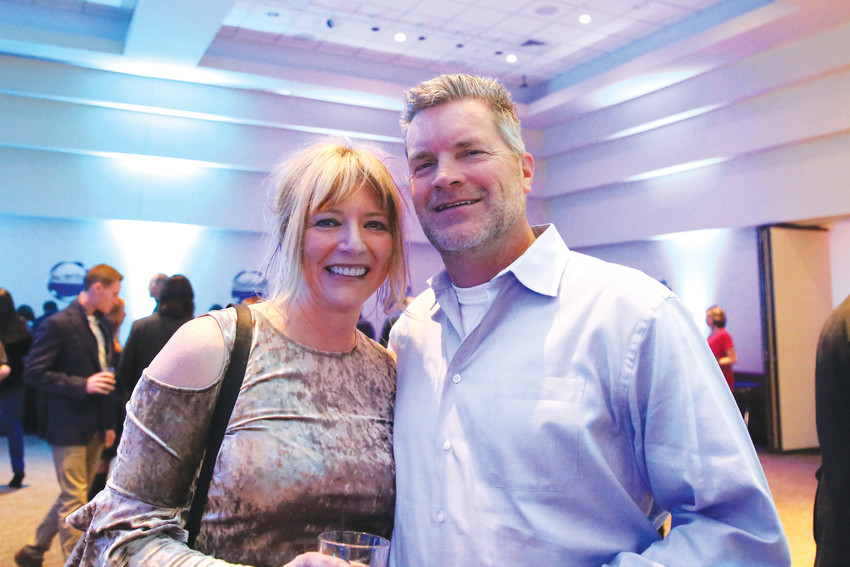 Kelly and John Tryba attended the event in support of Hope House of Colorado, this year's nonprofit of the year.