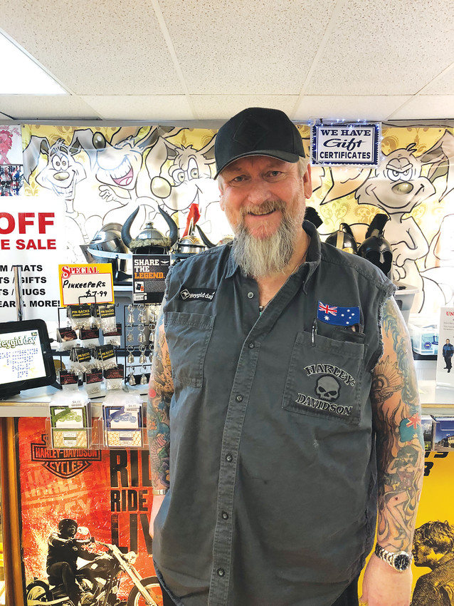 Al Williams runs an embroidery and engraving business in Castle Rock and enjoys riding motorcycles in his free time.
