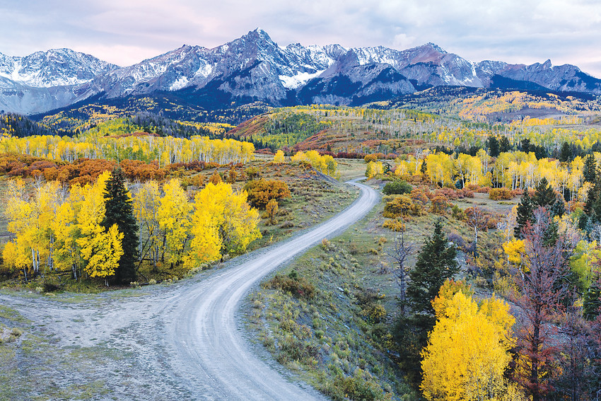 "Colorado in fall, as photographed by Nasim Masurov, who will speak to the Englewood Camera Club on Feb. 13 about ""Composition in Landscape Photography."""