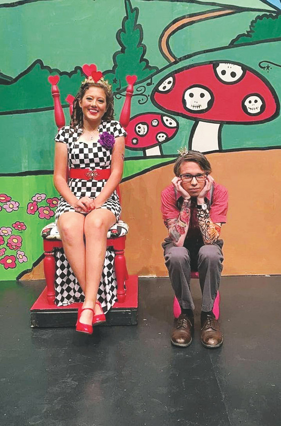 Jillian Williams and Michael Brend pose as the Queen and King of Hearts in last fall's performance of Alice in Wonderland.