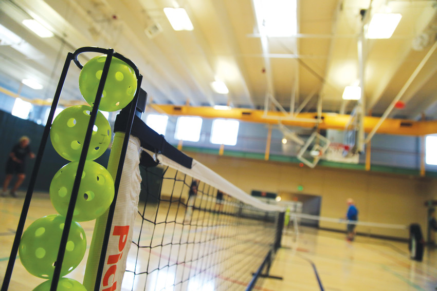 Pickleball is played daily at the Apex Center.