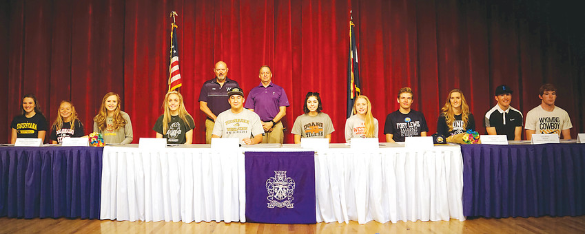 Arvada West High School had 11 student-athletes sign their National Letter of Intent on Feb. 7.