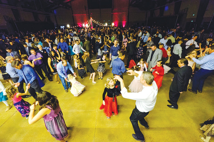 Crowds dance the night away at the Daddy Daughter Ball.