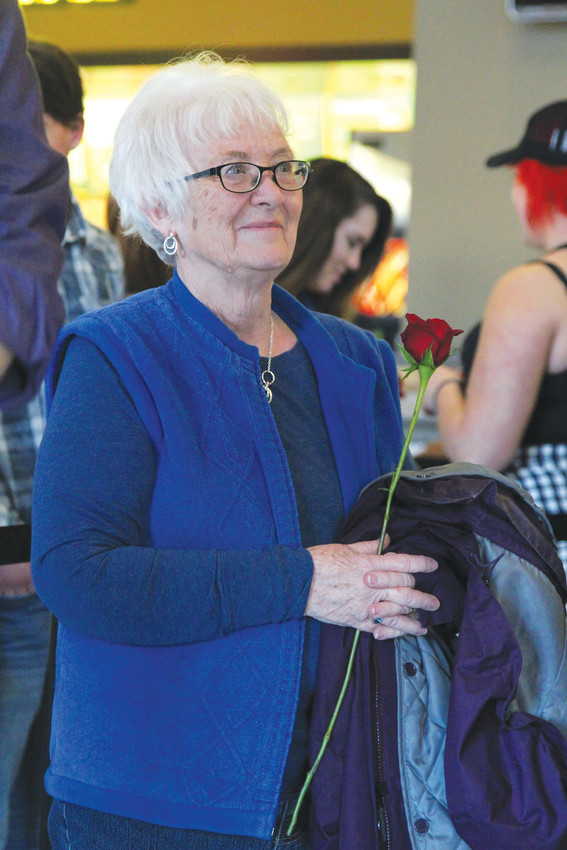 Connie Gant, a fan of McCreery's since his American Idol days, waits next in line to meet him on Feb. 13.