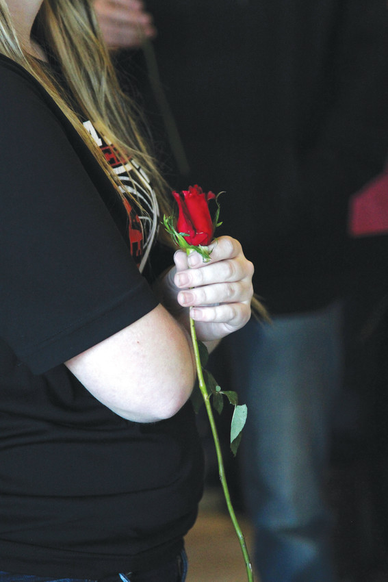 The Outlets at Castle Rock provided each person who attended the meet and greet with Scotty McCreery on Feb. 13 with roses in honor of Valentine's Day.