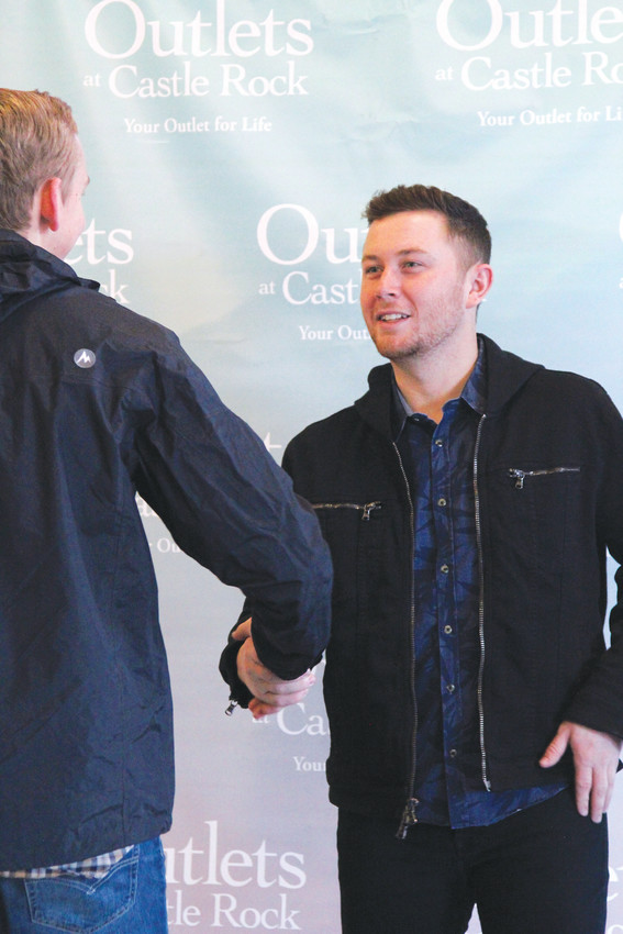 A spokeswoman for the Outlets at Castle Rock estimated about 300 people came through the meet and greet with Scotty McCreery.
