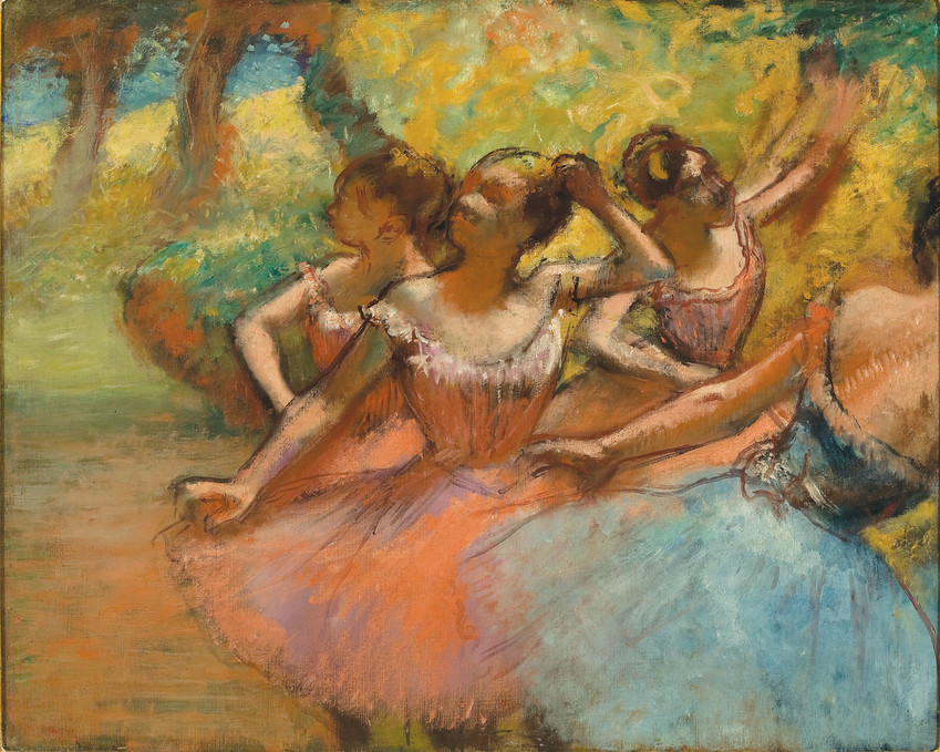 """Four Dancers on Stage, Brazil"" is included in the new exhibit ""Degas: A Passion for Perfection"" through May 20 at the Denver Art Museum. From Museude Arte, Sao Paulo  Assis Chateaubriand."