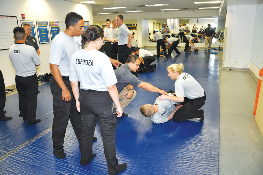 Arvada police officers train in use-of-force techniques 16 hours per year.