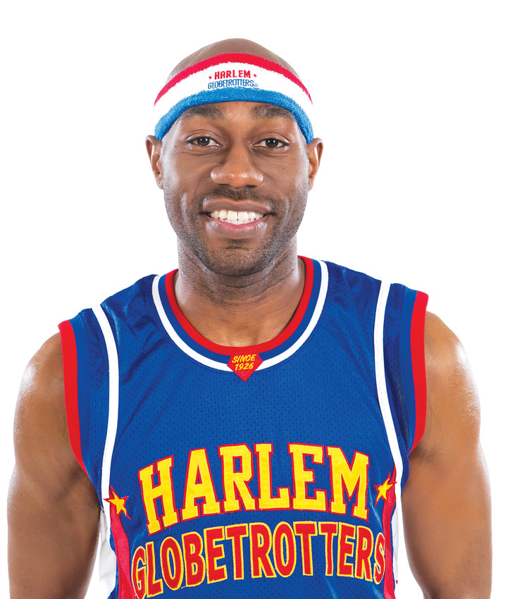 Firefly Fisher has been playing with the world famous Harlem Globetrotters for nine years. The 5-foot 9-inch guard played at Sienna College before being drafted to the team.