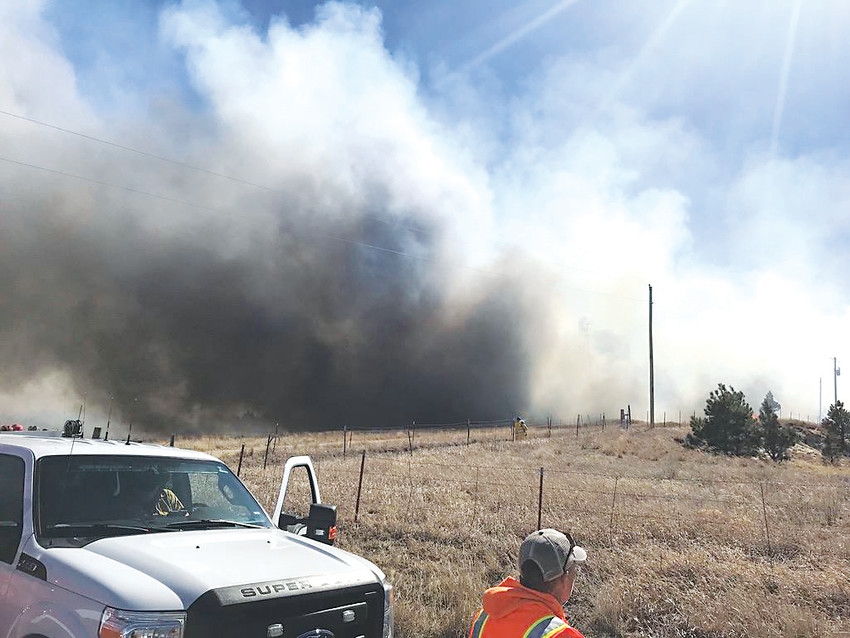 The Forest Ridge Fire burned 375 acres south of Kiowa on March 4. Courtesy photo