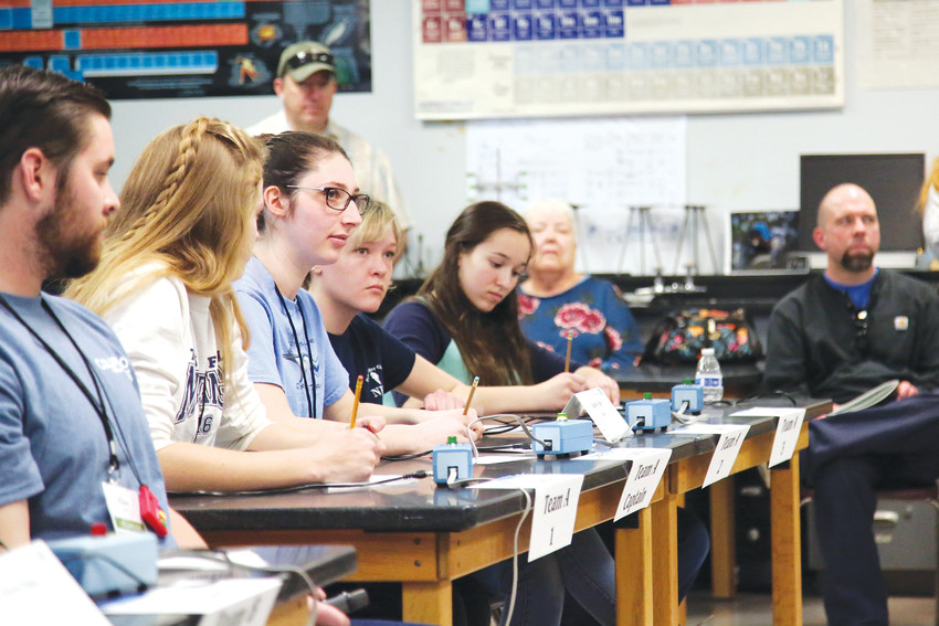 Students from Ralston Valley High School in Arvada compete in the round robin portion of the Colorado Science Bowl March 3.