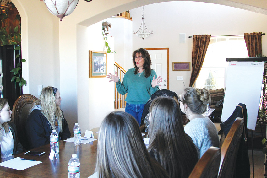 Shannon Claton leads a life skills class on Feb. 24 in her Castle Rock home.