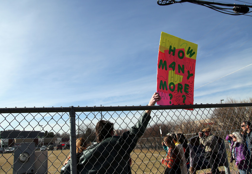 Members of the Arvada community came out to show support for the students.